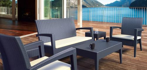 Bahçe Balkon Rattan ve Plastik Oturma Grupları