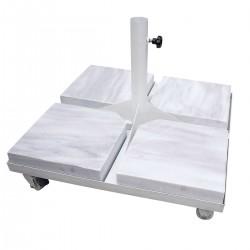 Bahex 70 X 70 Tekerlekli Metal Tespit Ayağı Mermerli