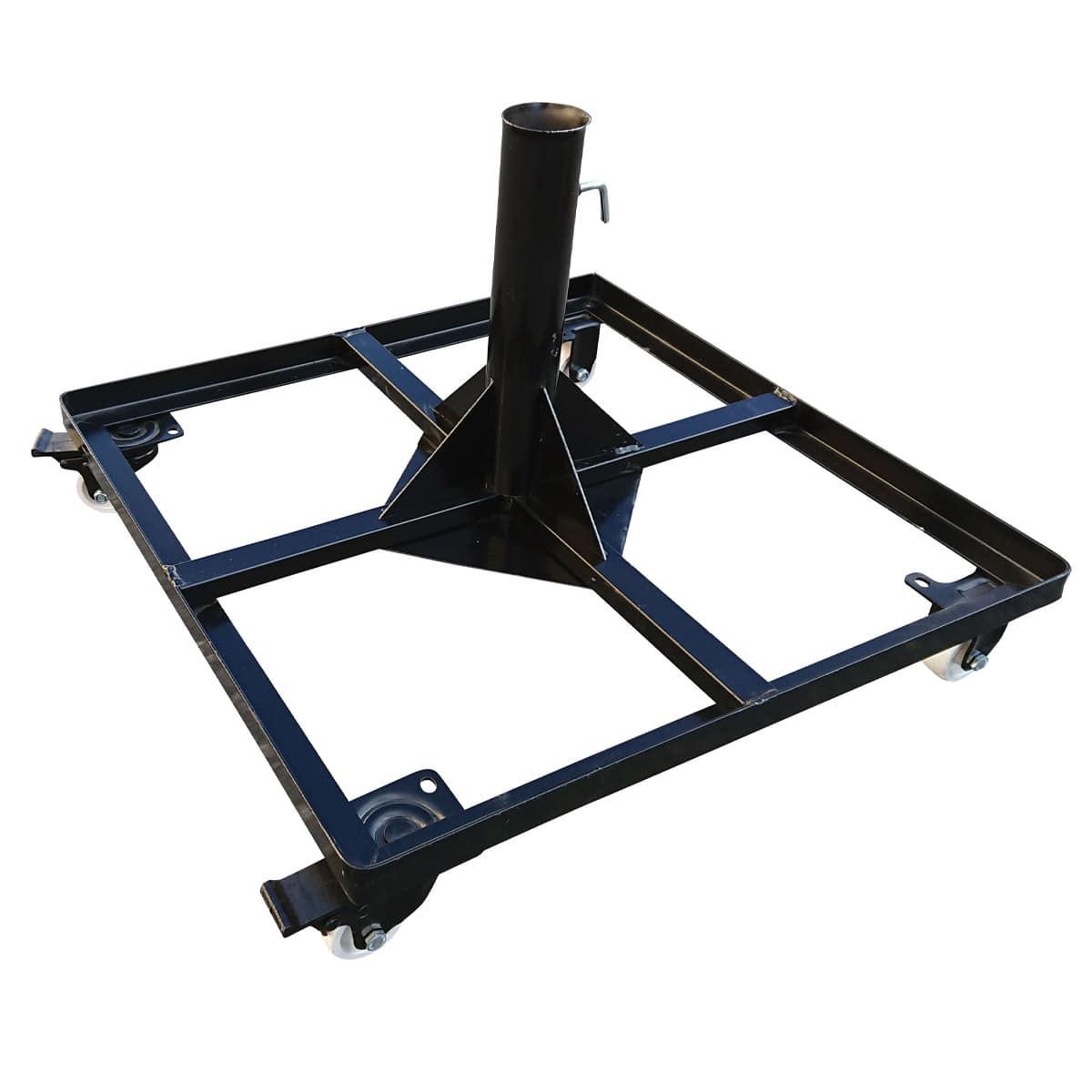 Bahex 60 X 60 Tekerlekli Metal Tespit Ayağı Mermerli